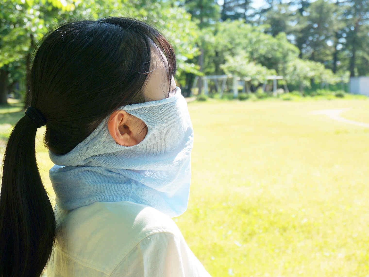 フェイスマスク涼しい夏の麻
