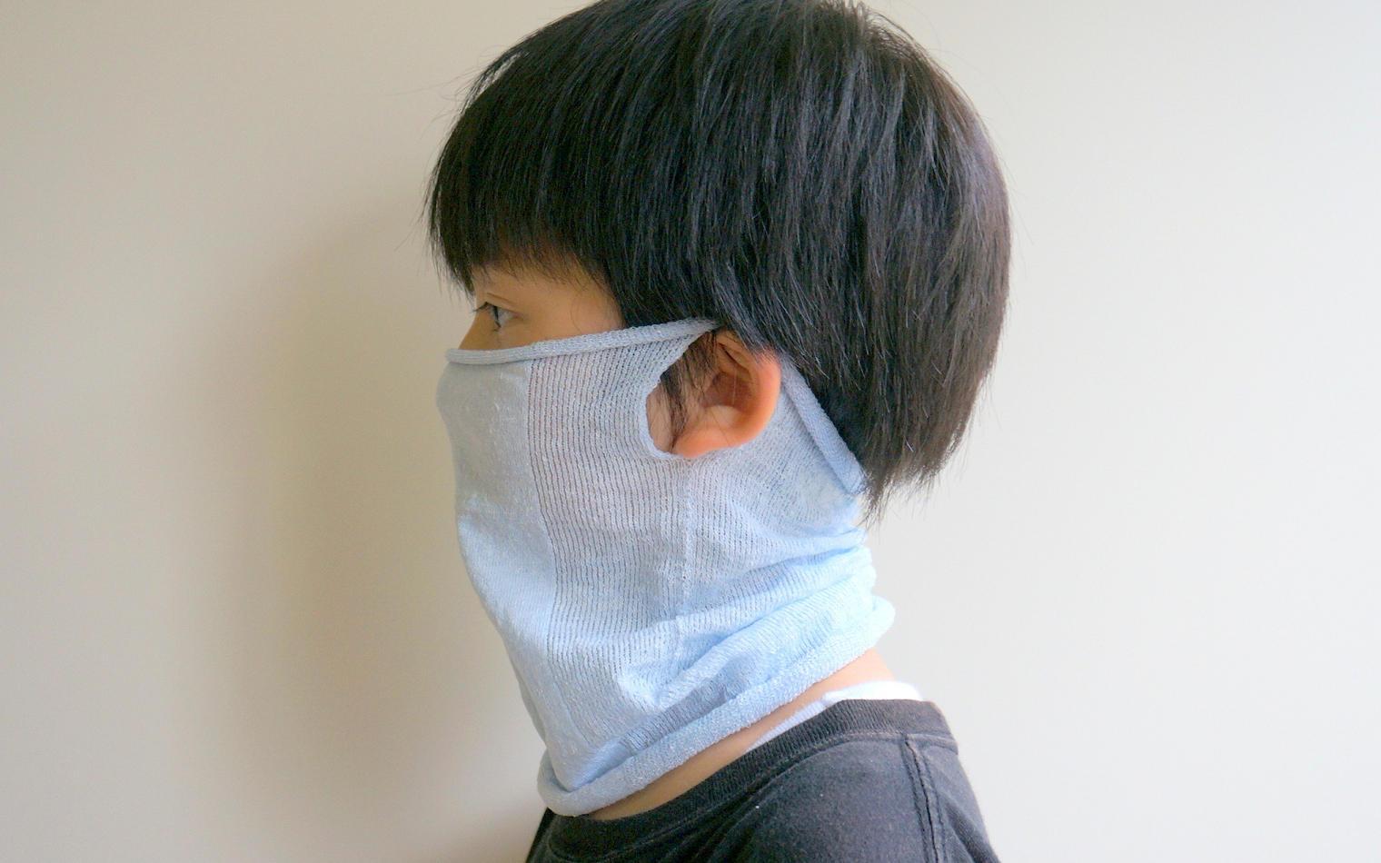フェイスマスク涼しい夏の麻キッズ