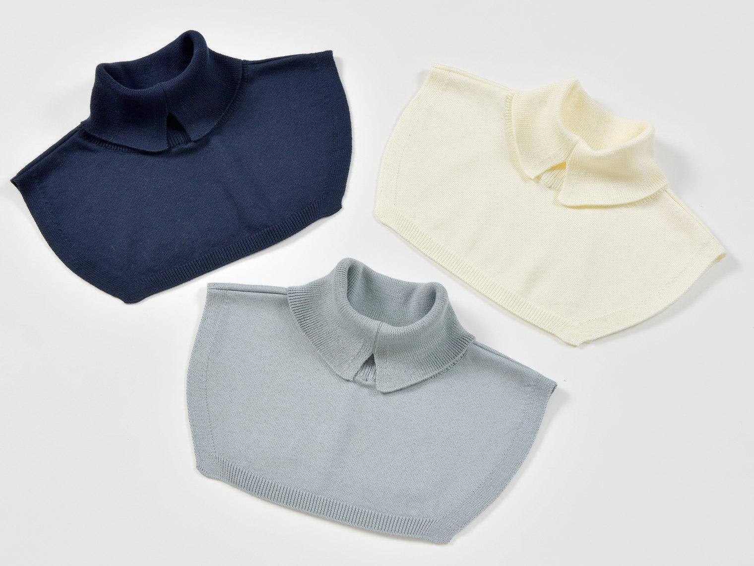 くびをつつむ つけ衿 オーガニックコットン カラー比較