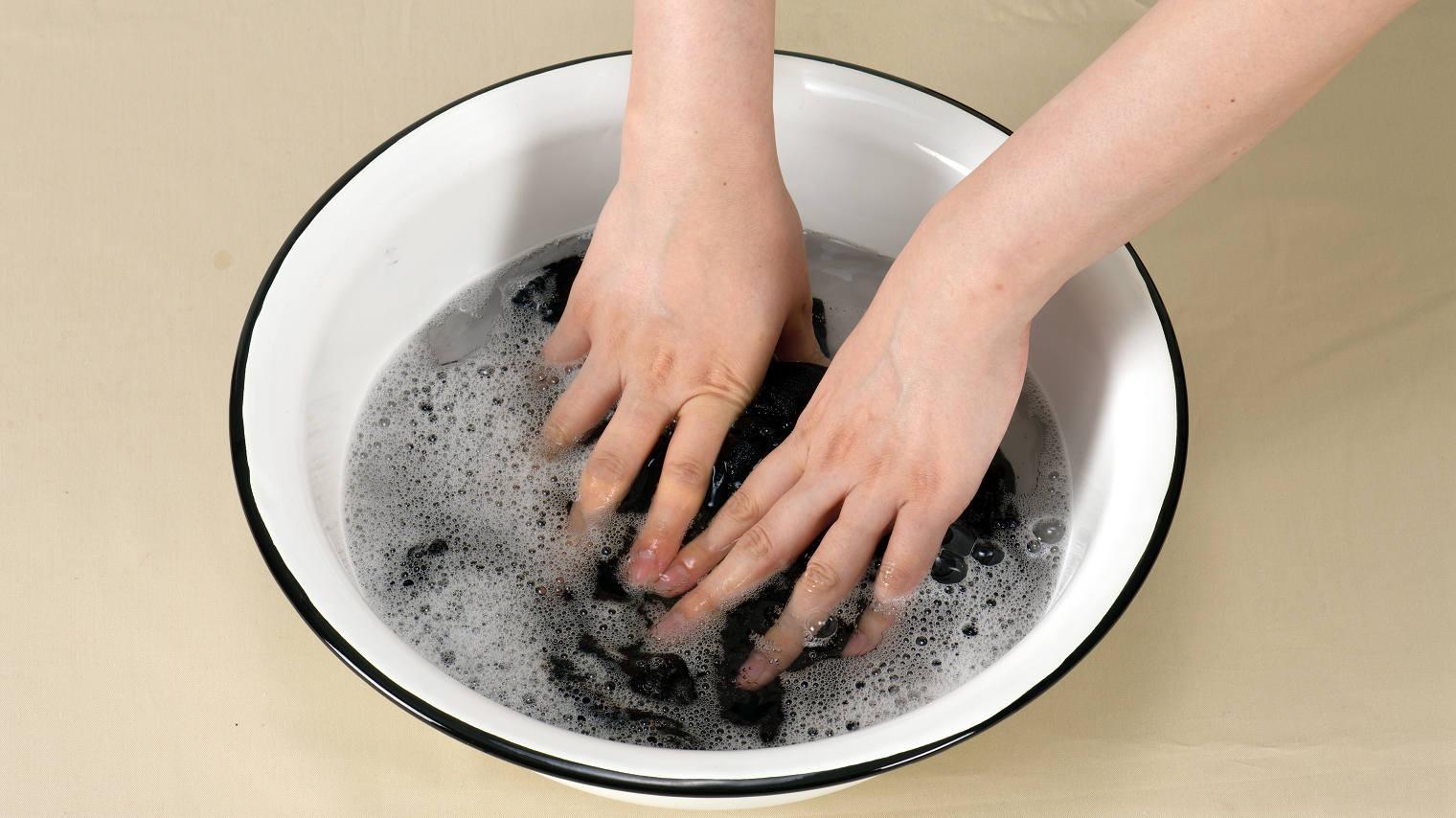 手洗いできるニット
